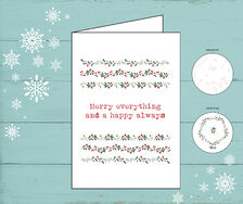 Kerstkaart 'Merry Everything & Happy always'