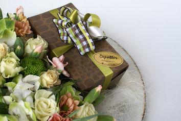 Bloemstuk chocolade Depotter