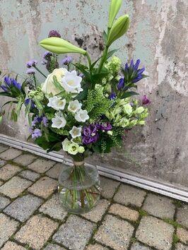 Veldboeket Wit/groen-Blauw/paars